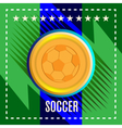 Digital football and soccer ball vector image vector image