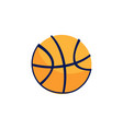 doodle basket ball icon vector image