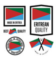 eritrea quality label set for goods vector image vector image