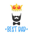 fathers day greeting card vector image vector image