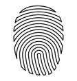 fingerprint icon black color flat style simple vector image