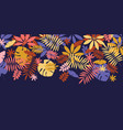 flat colorful fall leaves element vector image vector image