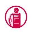 Gasoline pump filling station vector image vector image
