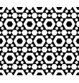 geometric seamless pattern black white hexagons vector image vector image