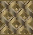 geometric tiled 3d greek seamless pattern vector image