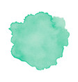 green abstract watercolor isolated on white vector image