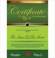Green Certificate template vector image vector image