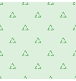 Green ecological recycle symbol seamless pattern vector image