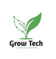 green tech natural logo designs vector image