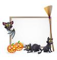 halloween sign background vector image