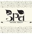 handwritten word spa natural beauty vector image vector image