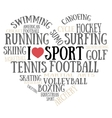 I love sport vector image