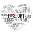 I love sport vector image vector image