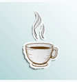 icon cup of coffee vector image vector image