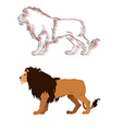 Lion king isolated animal vector image