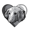monochromatic i love dogs icon vector image vector image