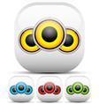 multicolor speaker icon set vector image