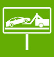 no parking sign icon green vector image