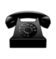 old black phone vector image vector image
