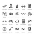 ophthalmology eyes health care glyph icons vector image