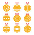 ornamental orange christmas vector image vector image