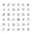 outline web icon set - pet pet shop vector image