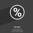 percentage discount icon symbol Flat modern web vector image