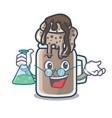 professor milkshake character cartoon style vector image vector image