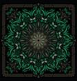 psychedelic mandala geometric vector image