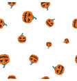 pumpkin orange halloween pattern seamless vector image