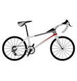 racing bicycle icon vector image