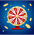 realistic detailed 3d casino fortune wheel winner vector image vector image