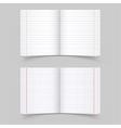 school notebooks vector image