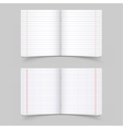 school notebooks vector image vector image