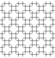 seamless black squares pattern on white vector image vector image