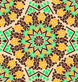 Seamless pattern of Moroccan mosaic vector image