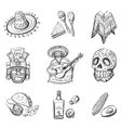 Set of Mexico vector image vector image