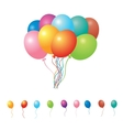 set of party balloons vector image vector image