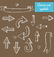 Sketch set of arrows vector image vector image