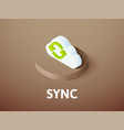 sync isometric icon isolated on color background vector image