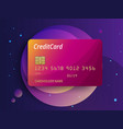 templates of credit cards design plastic vector image