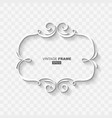 white abstract retro vintage frame banner vector image vector image