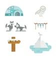 Wild north arctic symbols vector image