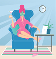 Working from home vector image vector image