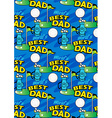 Worlds Best Golf Dad repeating pattern vector image vector image