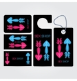 XXX sex shop salon black Corporate identity vector image vector image