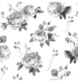 Vintage Floral Seamless Background with Blooming vector image