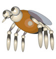 3d model a fly on white background vector image vector image