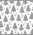 abstract christmas tree seamless pattern winter vector image