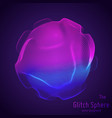 abstract sphere of particles points array vector image vector image